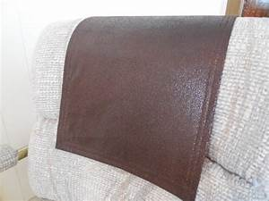 Chair caps headrest pads recliner hd covers by stitchnart for Furniture headrest covers