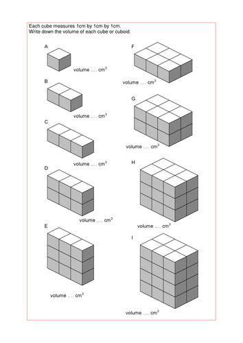 maths ks ks ks foundation volume  cuboids