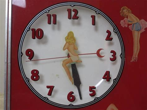 lighted clocks for sale 1950s pin up girls lighted clock all original for sale