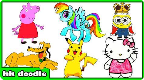 draw peppa pig   cute animal drawings