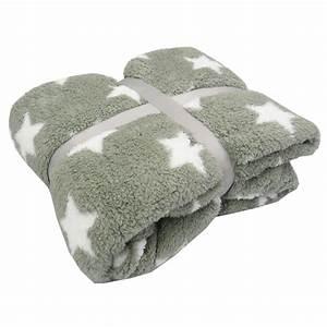 Decke Mit Sternen : kuscheldecke stars grau mit wei en sternen 150x200cm wohntextilien decken ~ Markanthonyermac.com Haus und Dekorationen