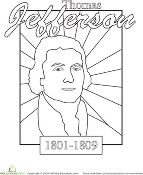 jefferson preschool color a u s president jefferson worksheet 639