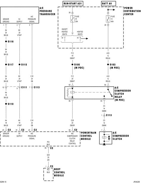 Wiring Diagram For 2004 Chrysler Cirru by I Need A Color Code Wiring Diagram For A C Compressor On