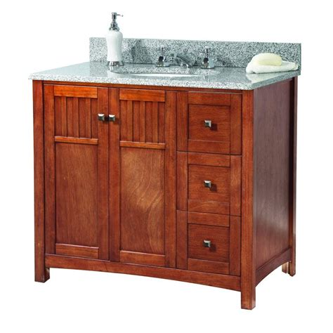 foremost vanity reviews foremost knoxville 37 in w x 22 in d vanity in nutmeg