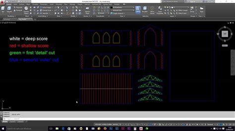 laser cutting autocad  drawing setup youtube