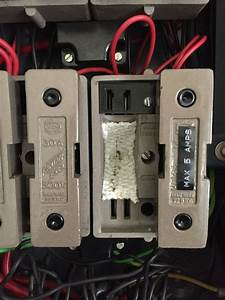 Asbestos Fuse Lining In Old Style 3 Phase Fuse Board