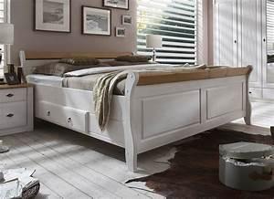 Bett Weiß Massiv 180x200 : massivholz doppelbett mit schubladen 180x200 kiefer massiv wei gelaugt ~ Bigdaddyawards.com Haus und Dekorationen