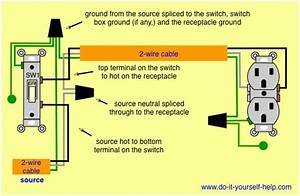 How To Wire A Plug And Switch Diagram