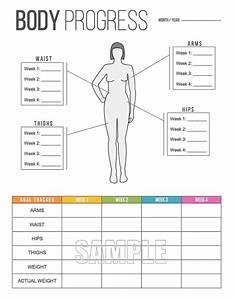 Body Progress Tracker Printable Body By Freshandorganized