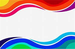 Red and blue wave border, Vector Png, Wave Border, Color ...