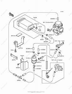 Kawasaki Motorcycle 1994 Oem Parts Diagram For Fuel Evaporative System
