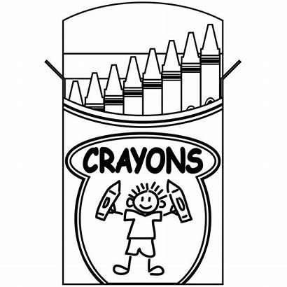 Box Crayon Clip Coloring Crayons Clipart Clipartion