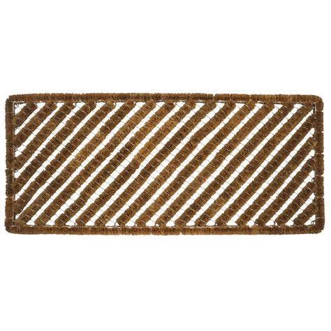 Entryways Doormats by Entryways Rectangle Stripes 18 In X 42 In Wire Brush
