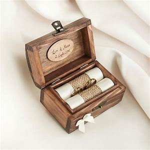 Personalized wedding ring box wooden ring box ring for Wedding ring holder box