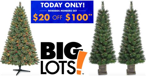 big lots 20 off 100 purchase 6 pre lit christmas
