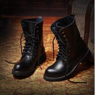 Fashion Cool Mens Boots For Riding Winter Black Leather
