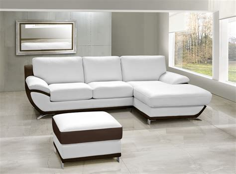 canapé d angle bicolore canapé cuir d 39 angle mojo