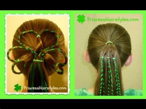 st patricks day hairstyles  leaf clover shamrock
