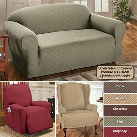 Slipcovers For Sectional Sofas With Recliners by Stretch Sensations Slipcover Furniture Protector Luxury