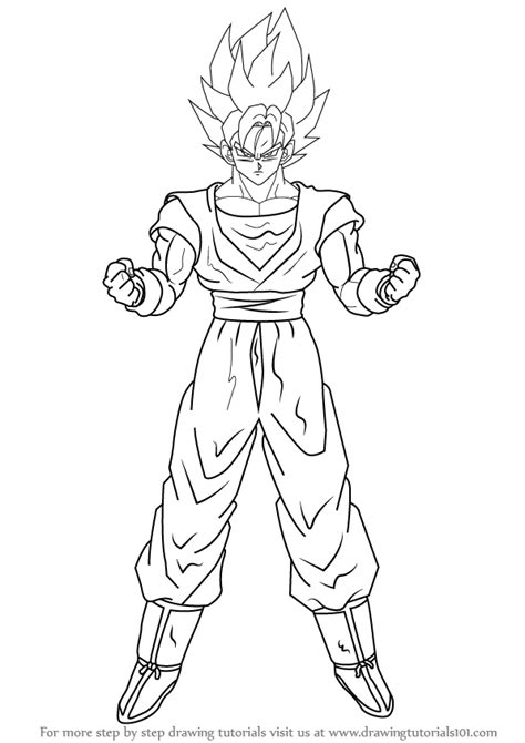 learn   draw goku super saiyan  dragon ball