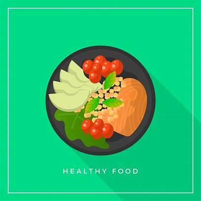 Vector Healthy Meals Illustration Flat Clipart Graphics