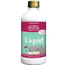 Liquid Vitamins High Potency by Buried Treasure - 16 Fluid Ounces