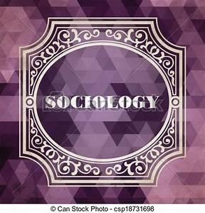 Stock Illustration of Sociology Concept. Vintage Design ...