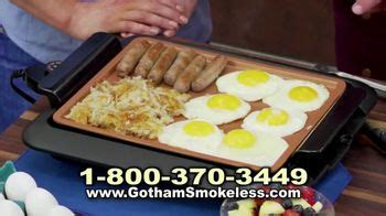 gotham smokeless grill tv commercial barbecue  ispottv