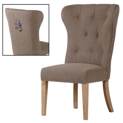 taupe button back dining chair with ring shropshire