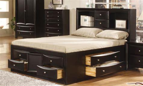 king size bed  storage finished bedroom set