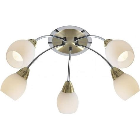 dar lighting tempo 5 light ceiling fitting in two tone