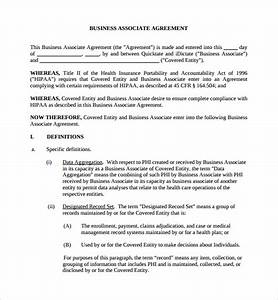 sample business associates agreement 7 free documents With baa agreement template