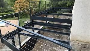 Terrasse Metallique Suspendue : terrasse suspendue sigb maconnerie ~ Dallasstarsshop.com Idées de Décoration