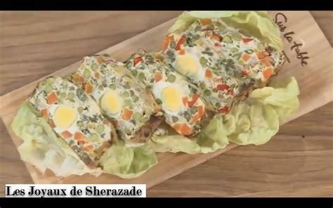 cuisine de chahrazed terrine de légumes aux oeufs les joyaux de sherazade