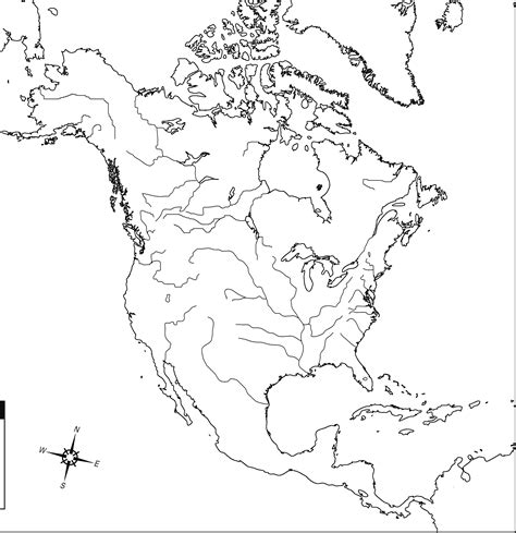 blank north america physical map  travel information