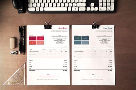 simple corporate invoice template metro