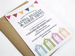 beach hut wedding invitation sample by stnstationery on etsy With wedding invitations beach hut