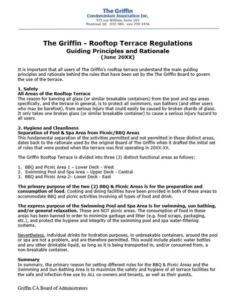 condominium rules rental agreement template condominium association rationale for common area rules