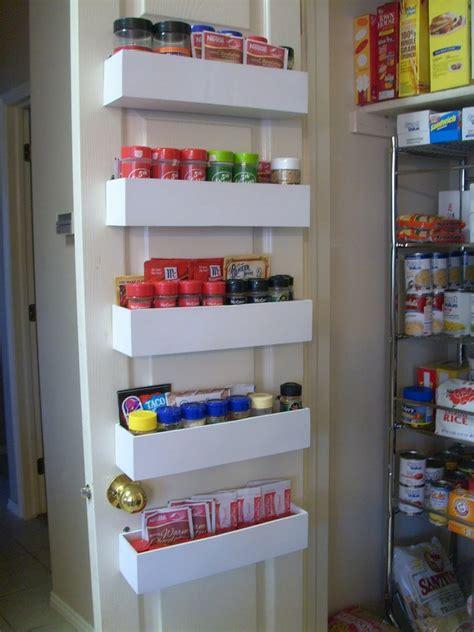 Pantry Storage Racks Diy Pantry Door Spice Racks The Owner Builder Network