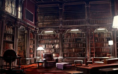Old Library Wallpaper
