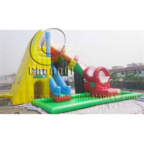 cheap inflatable water slides no cqws321 for sale factory