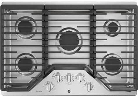 ge pgpslss   gas cooktop  led backlit knobs continuous grates power boil burner
