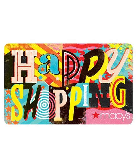 The card is not redeemable for cash, except in california and certain other states. Macy's Happy Shopping E-Gift Card & Reviews - Gift Cards - Macy's