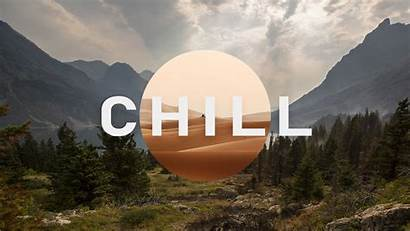 Chill Wallpapers Mountain Trees Background Clouds Field
