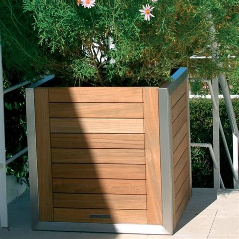 teak planter box modern patio chicago by home