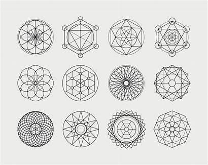 Shapes Vector Sacred Geometry Geometric Meanings Mandala