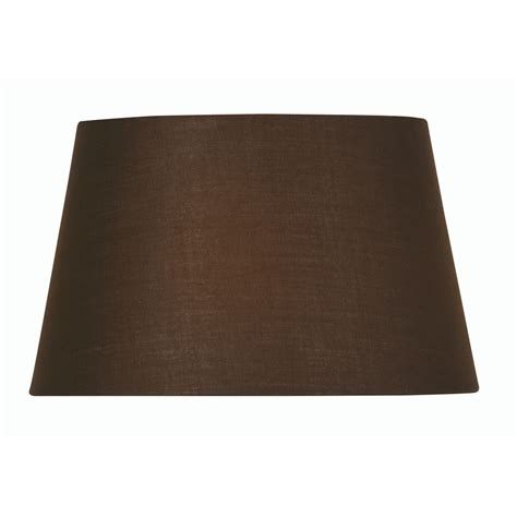 14 inch drum l shade chocolate cotton drum l shade 14 inch s901 14co oaks