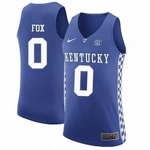 DeAaron Fox Jersey Kentucky Wildcats College Basketball ...