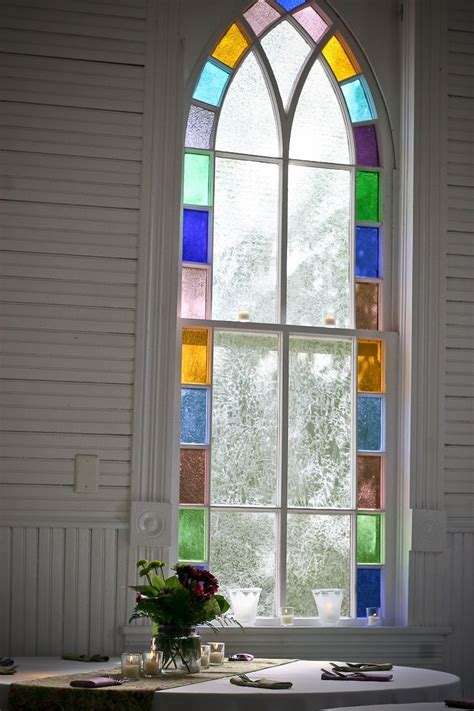 interior decorative faux stained glass window film