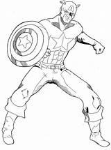 Captain America Coloring sketch template